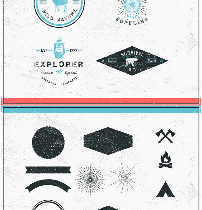 26 Free Adventure and Travel Shapes & Logos