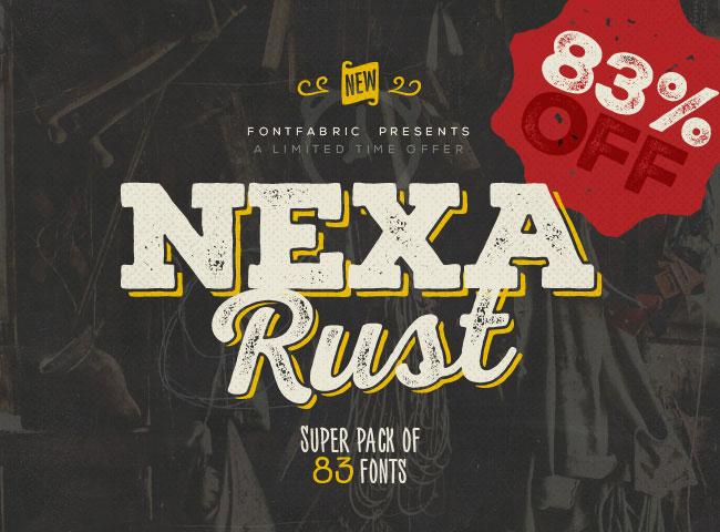 NEXA RUST – Super Mega Font Bundle